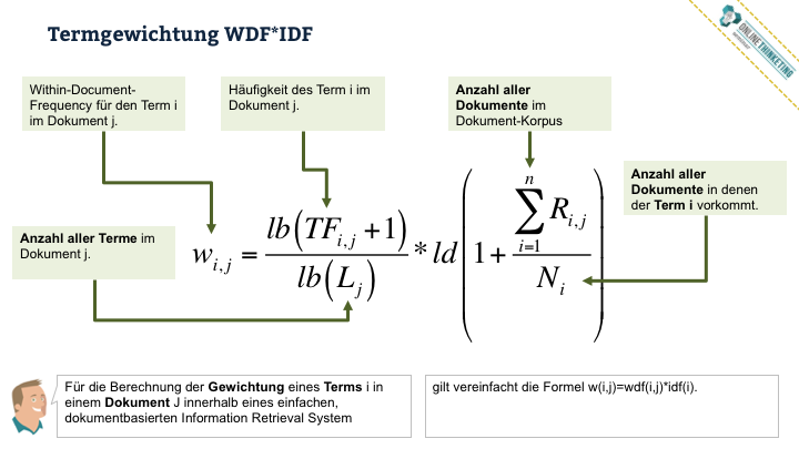 Online Marketing Seminar » Onlinethinketing » Web-Technik » WDF*IDF Termgewichtung